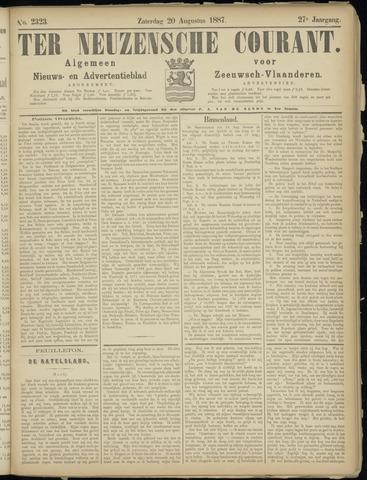 Ter Neuzensche Courant. Algemeen Nieuws- en Advertentieblad voor Zeeuwsch-Vlaanderen / Neuzensche Courant ... (idem) / (Algemeen) nieuws en advertentieblad voor Zeeuwsch-Vlaanderen 1887-08-20