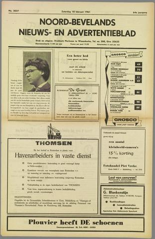 Noord-Bevelands Nieuws- en advertentieblad 1961-02-18