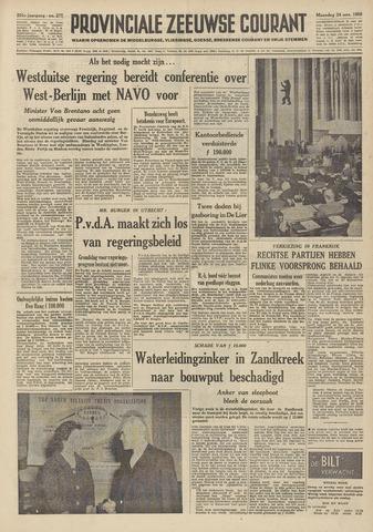 Provinciale Zeeuwse Courant 1958-11-24