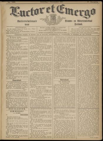 Luctor et Emergo. Antirevolutionair nieuws- en advertentieblad voor Zeeland / Zeeuwsch-Vlaanderen. Orgaan ter verspreiding van de christelijke beginselen in Zeeuwsch-Vlaanderen 1917-12-01