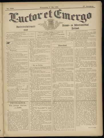 Luctor et Emergo. Antirevolutionair nieuws- en advertentieblad voor Zeeland / Zeeuwsch-Vlaanderen. Orgaan ter verspreiding van de christelijke beginselen in Zeeuwsch-Vlaanderen 1916-05-17