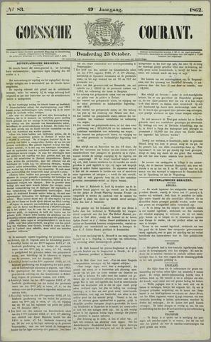 Goessche Courant 1862-10-23