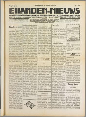 Eilanden-nieuws. Christelijk streekblad op gereformeerde grondslag 1940-02-14