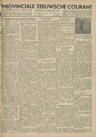 Provinciale Zeeuwse Courant 1944-02-21