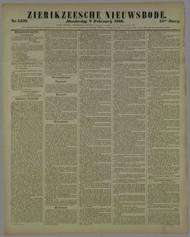 Zierikzeesche Nieuwsbode 1888-02-09