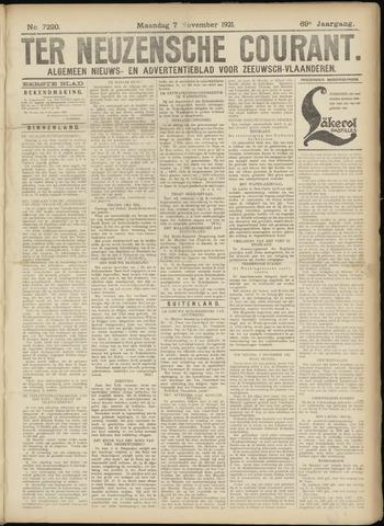 Ter Neuzensche Courant. Algemeen Nieuws- en Advertentieblad voor Zeeuwsch-Vlaanderen / Neuzensche Courant ... (idem) / (Algemeen) nieuws en advertentieblad voor Zeeuwsch-Vlaanderen 1921-11-07