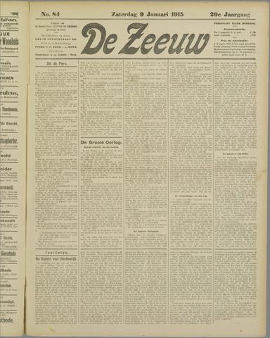 De Zeeuw. Christelijk-historisch nieuwsblad voor Zeeland 1915-01-09