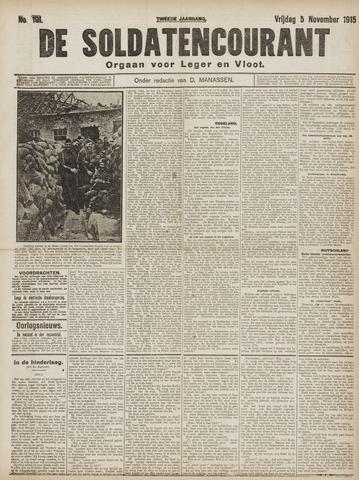 De Soldatencourant. Orgaan voor Leger en Vloot 1915-11-05