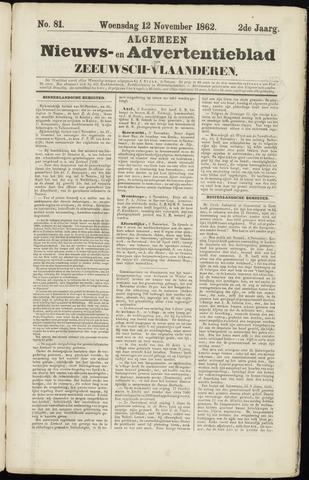 Ter Neuzensche Courant. Algemeen Nieuws- en Advertentieblad voor Zeeuwsch-Vlaanderen / Neuzensche Courant ... (idem) / (Algemeen) nieuws en advertentieblad voor Zeeuwsch-Vlaanderen 1862-11-12