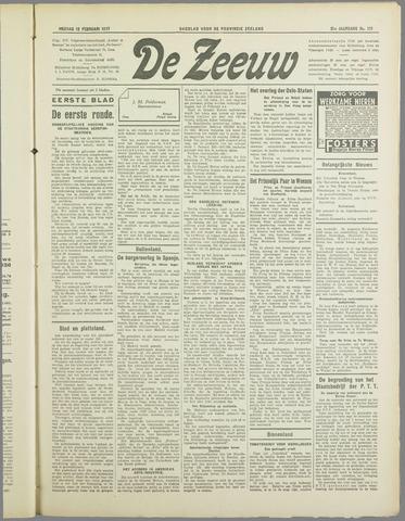 De Zeeuw. Christelijk-historisch nieuwsblad voor Zeeland 1937-02-12