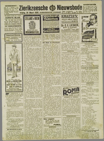 Zierikzeesche Nieuwsbode 1926-03-26
