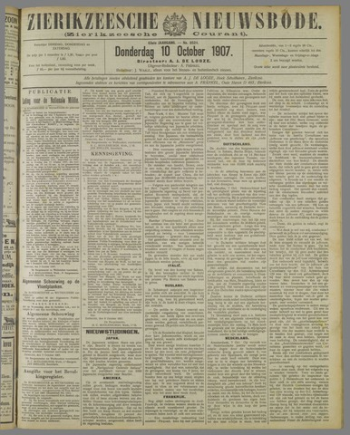 Zierikzeesche Nieuwsbode 1907-10-10