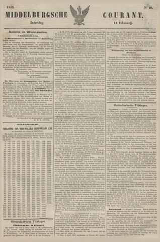 Middelburgsche Courant 1852-02-14