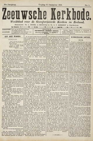 Zeeuwsche kerkbode, weekblad gewijd aan de belangen der gereformeerde kerken/ Zeeuwsch kerkblad 1915-12-31