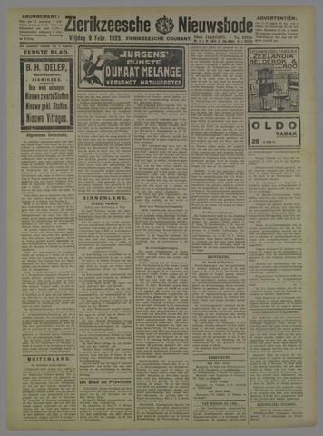 Zierikzeesche Nieuwsbode 1923-02-09