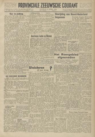 Provinciale Zeeuwse Courant 1945