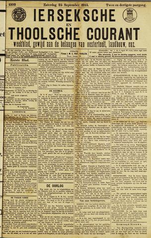 Ierseksche en Thoolsche Courant 1915-09-25