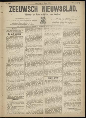 Ter Neuzensch Volksblad. Vrijzinnig nieuws- en advertentieblad voor Zeeuwsch- Vlaanderen / Zeeuwsch Nieuwsblad. Nieuws- en advertentieblad voor Zeeland 1918-03-30
