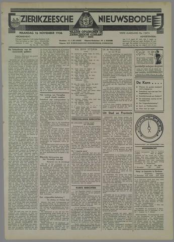 Zierikzeesche Nieuwsbode 1936-11-16
