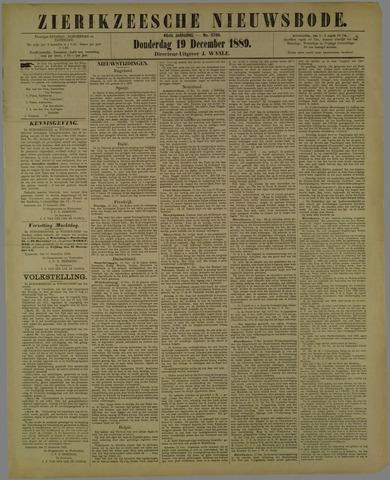 Zierikzeesche Nieuwsbode 1889-12-19