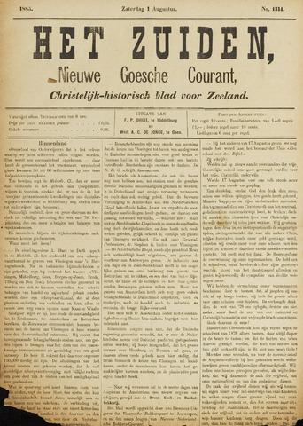 Het Zuiden, Christelijk-historisch blad 1885-08-01