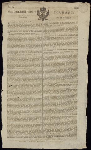 Middelburgsche Courant 1814-11-17