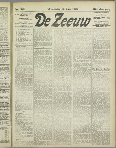 De Zeeuw. Christelijk-historisch nieuwsblad voor Zeeland 1918-06-12
