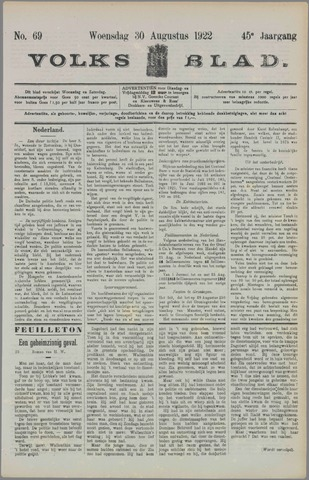 Volksblad 1922-08-30
