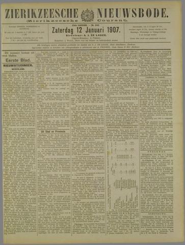 Zierikzeesche Nieuwsbode 1907-01-12