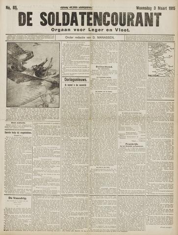 De Soldatencourant. Orgaan voor Leger en Vloot 1915-03-03