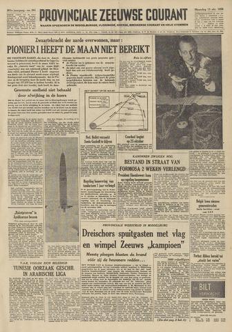 Provinciale Zeeuwse Courant 1958-10-13