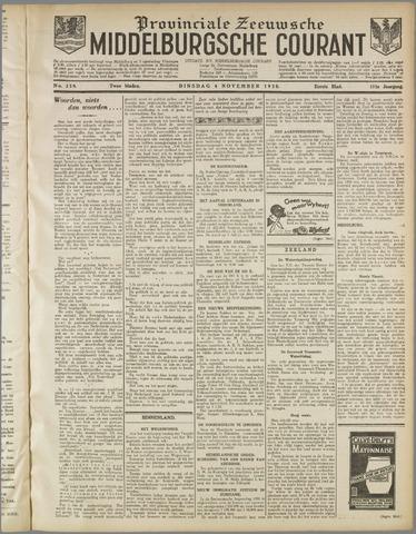 Middelburgsche Courant 1930-11-04