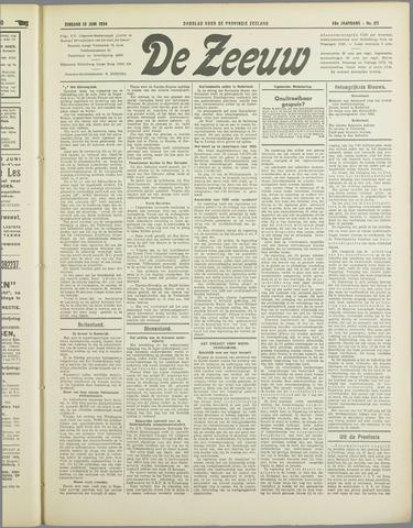 De Zeeuw. Christelijk-historisch nieuwsblad voor Zeeland 1934-06-12