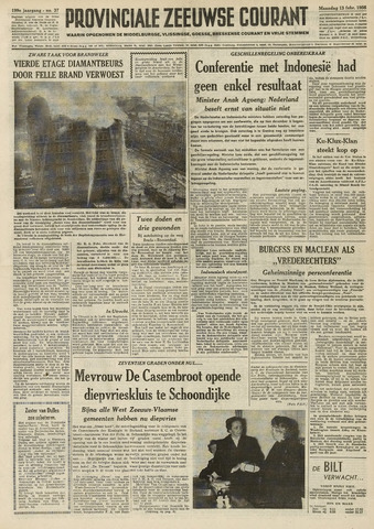 Provinciale Zeeuwse Courant 1956-02-13