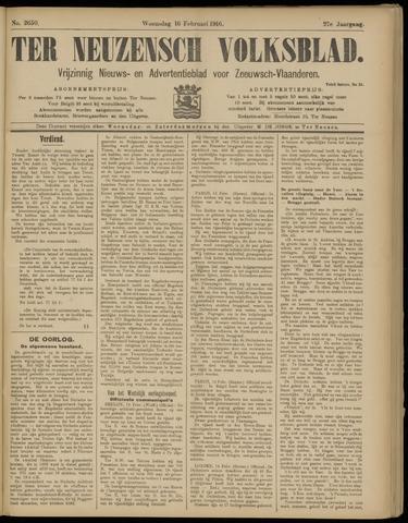 Ter Neuzensch Volksblad. Vrijzinnig nieuws- en advertentieblad voor Zeeuwsch- Vlaanderen / Zeeuwsch Nieuwsblad. Nieuws- en advertentieblad voor Zeeland 1916-02-16