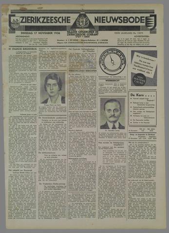Zierikzeesche Nieuwsbode 1936-11-17