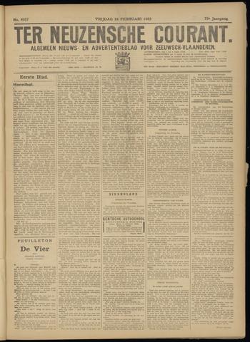 Ter Neuzensche Courant. Algemeen Nieuws- en Advertentieblad voor Zeeuwsch-Vlaanderen / Neuzensche Courant ... (idem) / (Algemeen) nieuws en advertentieblad voor Zeeuwsch-Vlaanderen 1933-02-24