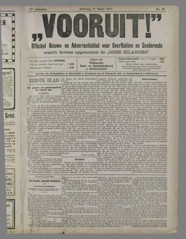 """""""Vooruit!""""Officieel Nieuws- en Advertentieblad voor Overflakkee en Goedereede 1917-03-17"""