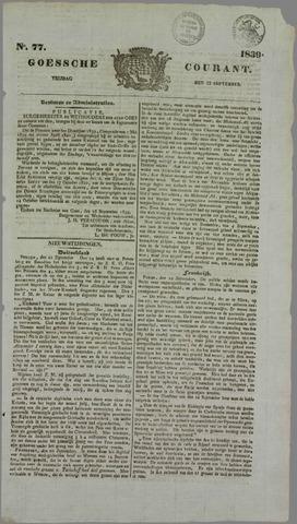 Goessche Courant 1839-09-27