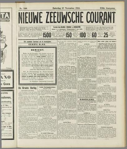 Nieuwe Zeeuwsche Courant 1915-11-27