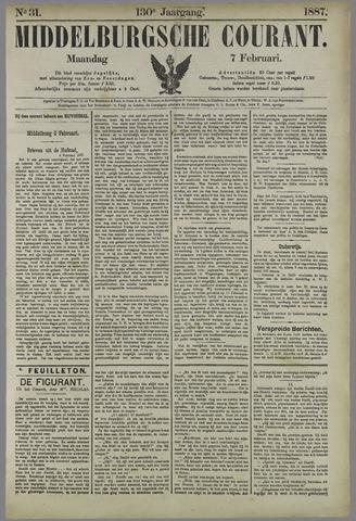 Middelburgsche Courant 1887-02-07