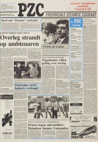 Provinciale Zeeuwse Courant 1986-11-01