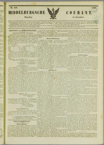 Middelburgsche Courant 1847-12-14