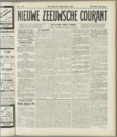 Nieuwe Zeeuwsche Courant 1911-09-30