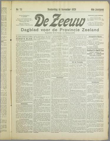 De Zeeuw. Christelijk-historisch nieuwsblad voor Zeeland 1929-11-14