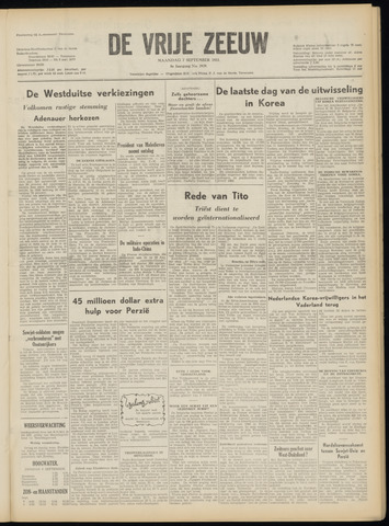 de Vrije Zeeuw 1953-09-07