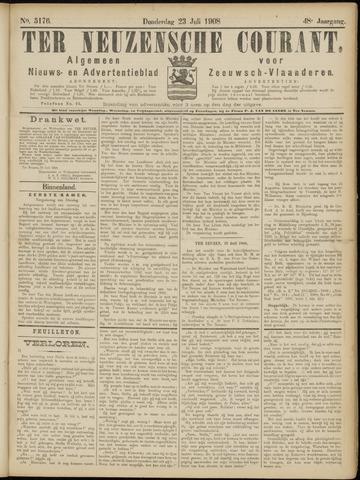 Ter Neuzensche Courant. Algemeen Nieuws- en Advertentieblad voor Zeeuwsch-Vlaanderen / Neuzensche Courant ... (idem) / (Algemeen) nieuws en advertentieblad voor Zeeuwsch-Vlaanderen 1908-07-23