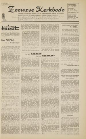 Zeeuwsche kerkbode, weekblad gewijd aan de belangen der gereformeerde kerken/ Zeeuwsch kerkblad 1963-07-12