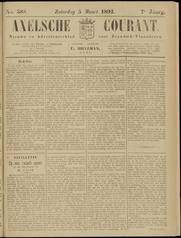 Axelsche Courant 1892-03-05
