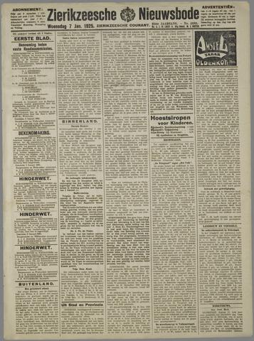 Zierikzeesche Nieuwsbode 1925-01-07